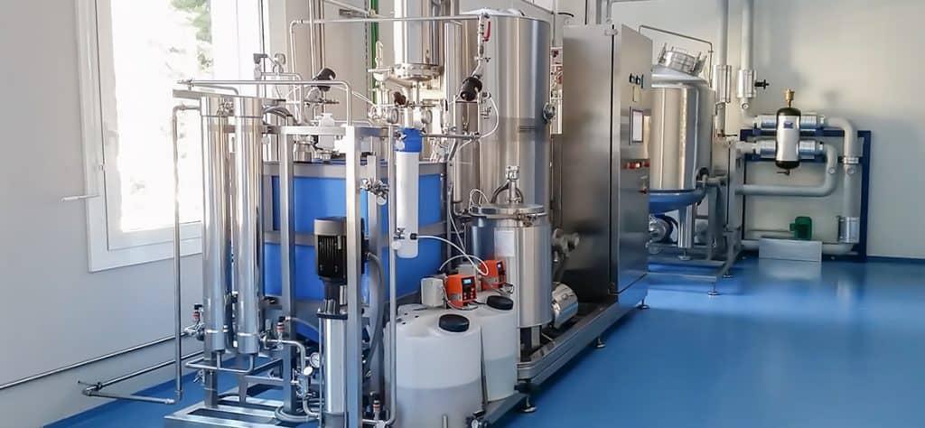 WFI equipment cost evaluation. STMC Vapor Compression unit with water pretreatment