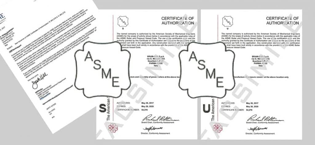 ASME-BRAM-COR-CERTIFICATES