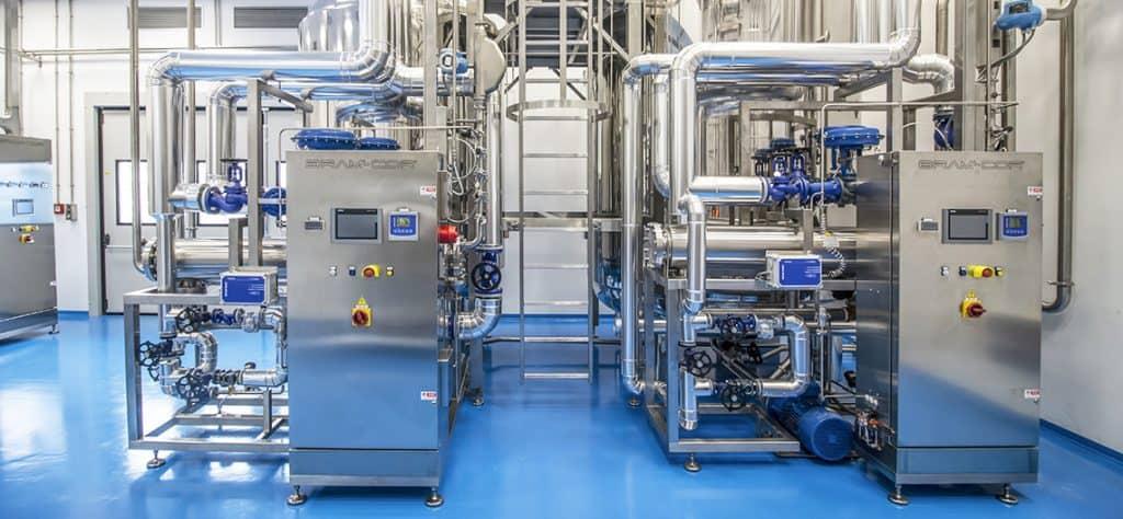 WFI Loops in Water Treatment Room