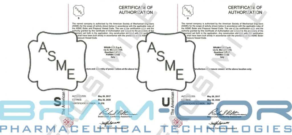 Bram-Cor is ASME U-S stamp certified