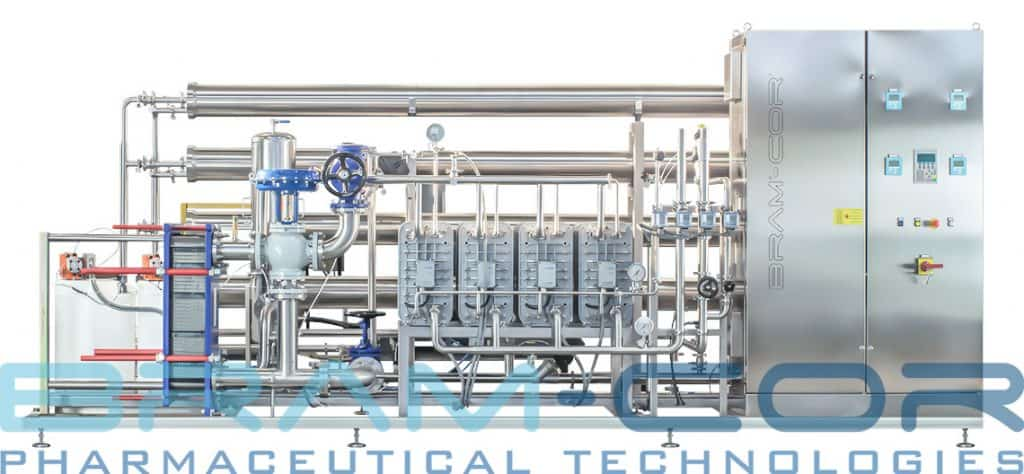 WFI from Reverse Osmosis. A classic BRAM-COR CROS Reverse Osmosis System.